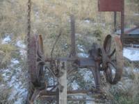 Antique Horse Drawn McCormick New Big 4 Sickle Mower.