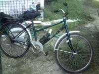 blue 3 speed huffy. over all it is in good condition