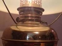 American Antique Brass Rayo Kerosene Oil Lamp