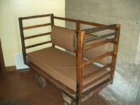 Distinct & very uncommon factory cart made into a