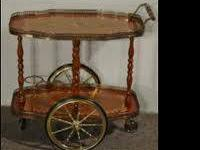 Vintage Italian Dessert or Beverage Cart, Tea Trolley.