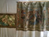 Antique Italian Tapestry In Benediction Italian Hand