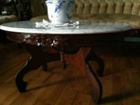 Antique Victorian style marble top coffee Table by