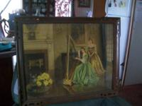BEAUTIFUL CHRISTMAS GIFTS  VICTORIAN LADIES PICTURE