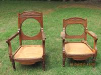 Antique King and Queen chair frames appraised at $900.
