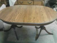 I have this beautiful antique solid oak table for sale,