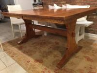 Double pedestal antique dining room table for sale in