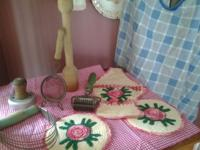 Antique kichen ware and utensils items. Just like