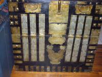 Distinct Antique Korean Wedding Trunk. Oriental