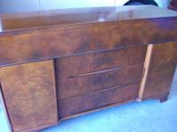?Burled Walnut Modern Lines ?Includes Buffet with 1