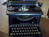 A wonderful antique typewriter in great condition and