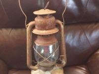 THIS ANTIQUE LANTERN WAS MY FATHER'S AND ITS JUST BEEN