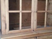 Very old rustic pine hutch that would look great in a