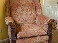 large library chair excellent for reading. good shape