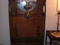 Wonderful solid wood antique drop front desk in great