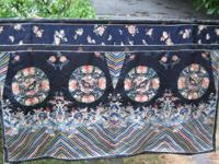 Antique late 1800?s oriental silk embroidered wall