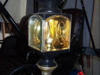 LIMITED - initial brass and steel candle lanterns(2)