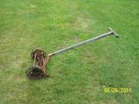 antique lawn mower, does work. $40 please call  ask for