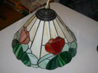 Antique Leaded Stained Glass lamp shade from England.