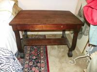 Exquisite ANTIQUE Library table! Very hard to find!