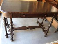 48'' long x 28'' wide x 29.5'' high Ornate legs with a