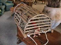 Antique Lobster Cage Pot Fishing Maine  -- Its the real