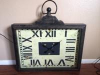 I have for sale a large wall clock, I has an antique