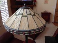 Tiffany Style Floor Lamp - $80 obo Classic style Wood