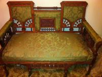 Original condition antique loveseat settee in need of