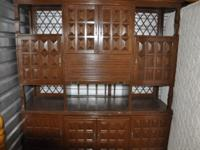 Hand Made Mahogany wall unit. Hand carved in the