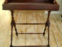 19TH CENTURY MAHOGANY BUTLERS TRAY ON STAND. This is a