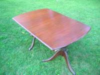 Antique Mahogany double pedestal dining room table.