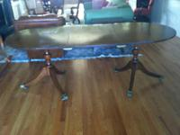 Charming Mahogany Dining Room Table which has a leaf