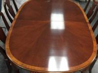Antique Mahogany Hickory Chair Table Includes Six