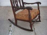 This is a beautiful mahogany chair from the 30s - 40s.
