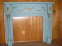 Selling two antique wooden mantels that were taken from