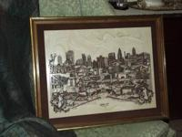 Antique Marble Tile Picture of Kansas City that is