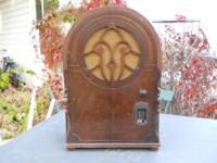 Antique radio made circa 1930 by Marfield Gloritone.