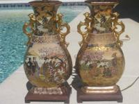 There as nice of satsuma vases that have been turned