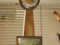 ANTIQUE MILLER 9 DAY WALL SURFACE CLOCK BY THE E.