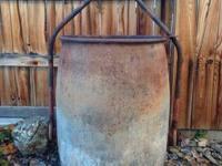 "24""x 34"". 51""height with handle up. Excellent piece of"
