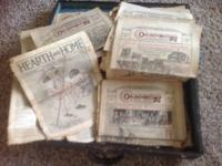 Antique newspapers dating from 1918 to 1922. There is a