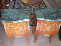Up for auction are a pair of gorgeous night stands,