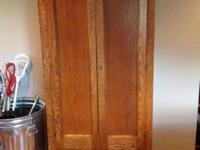 For sale is an Antique Oak Armoire. When we bought it
