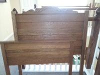 I have an antique Oak bed for sale. It includes the