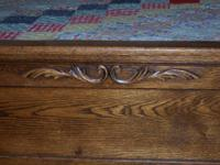 I have an antique oak bed for sale. It has the tall