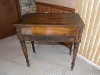 100+ year old antique oak writing desk.