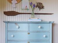 This lovely dresser was just recently upgraded with a