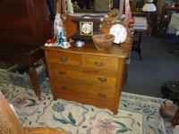 CHECK OUT THIS BEAUTIFUL SOLID OAK DRESSER W/MIRROR -