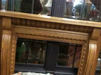 FOR SALE OK FIRE PLACE MANTLE IN GREAT CONDITION-DOES